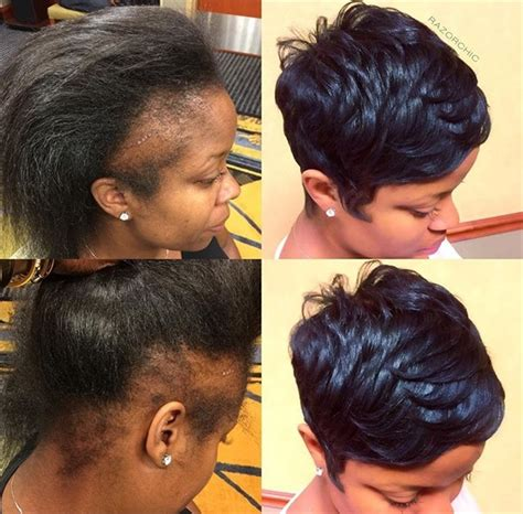 hair salons for black females with alopecia in chicago pixie perfect dramatic makeover camouflages hair loss by
