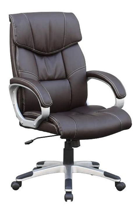 leather office padded chair swivel computer desk office