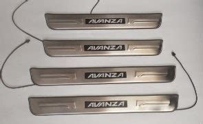 murah sill plate toyota avanza led stainless steel led door sill plate scuff plate for toyota