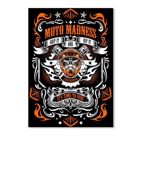 Funny Coffee Mugs Moto Madness Stickers Orange Moto Madness Grip It And