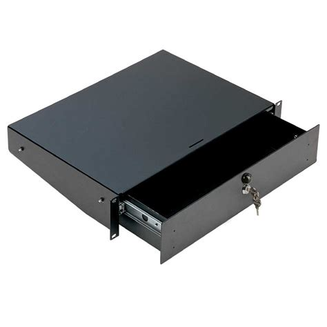 cassetto rack cassetto rack 2u con serratura nero euromet