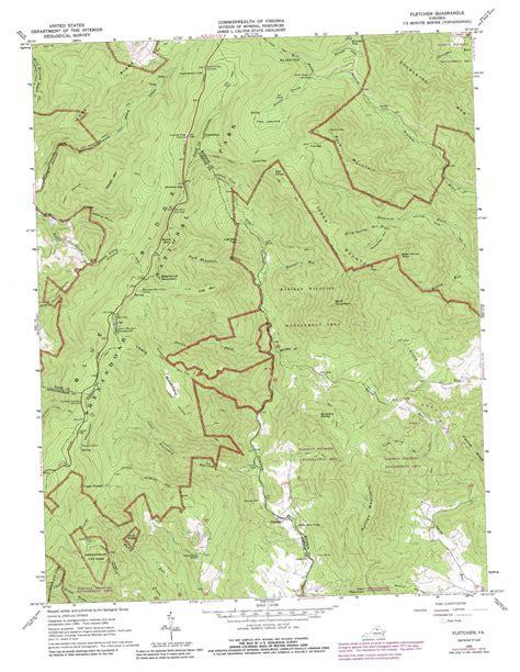 virginia topographic map fletcher topographic map va usgs topo 38078d4