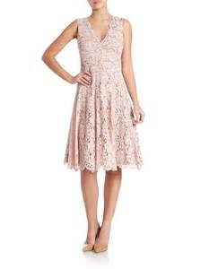 vera wang scarlet lace a line dress in pink lyst