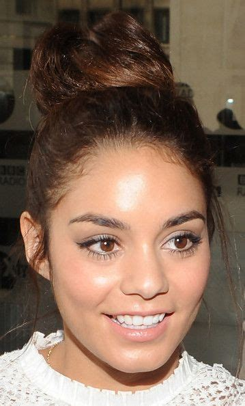 vanessa hudgens natural and unshaven pictures freaking eyes natural and top knot on pinterest