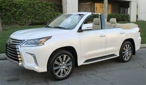 Lexus Enthusiast Buying Opportunity 2016 Lexus Lx Convertible On Sale In
