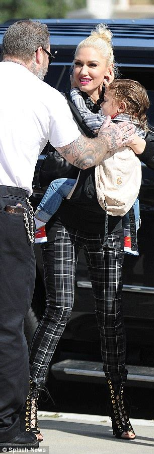 gwen stefani takes sons to california church after