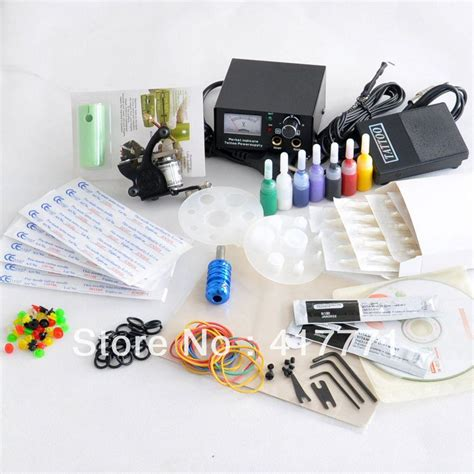 best tattoo starter kits simple complete starter beginner kit machine gun color ink