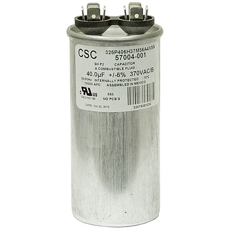 what does mfd capacitor 40 mfd 370 vac run capacitor csc 325p406h37m36a4xsn motor run capacitors capacitors