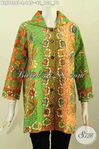 desain baju kerah keren baju blus keren elegan desain terkini blus batik kerah