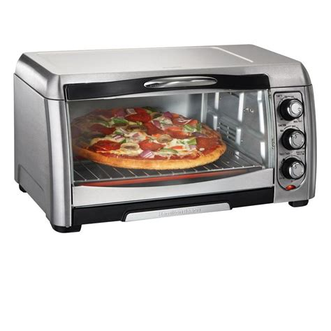 hamilton stainless toaster oven 31333 the home depot