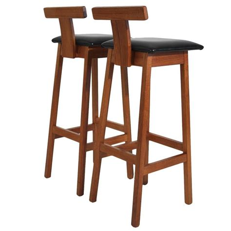 danish bar stools dyrlund modernist solid teak danish bar stools at 1stdibs