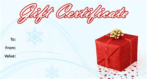 christmas gift certificate template 16 word pdf