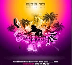 disco party flyer cover design vector 02 vector
