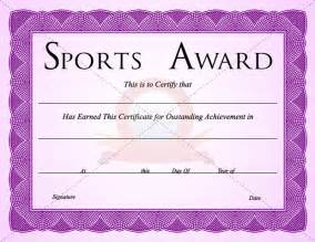 Sports Certificates Templates Free sports certificate template sports certificate templates