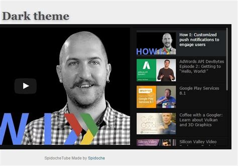 youtube themes gallery lightweight youtube video gallery with jquery