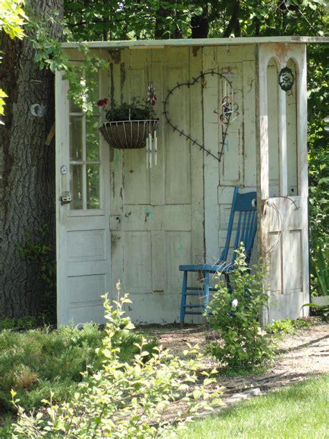 garden shed    doors  gardens