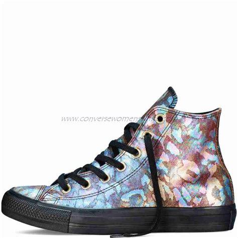 Jual Converse Leather Hi big discount converse womens high top chuck all iridescent leather black converse