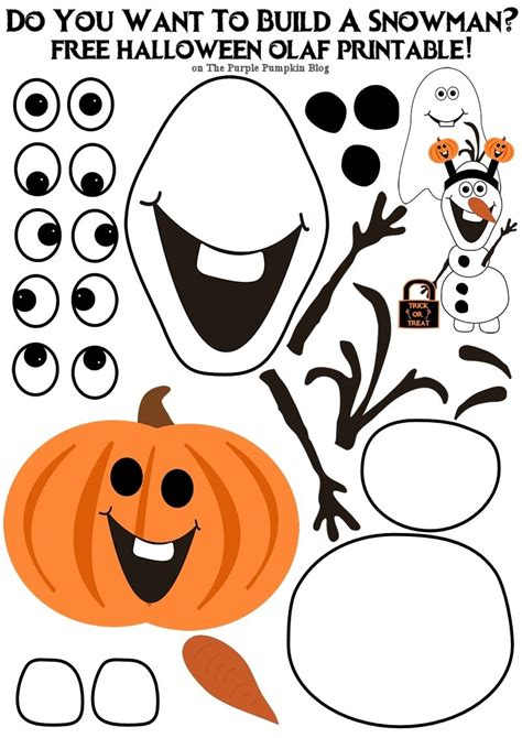 printable olaf pumpkin free olaf printable do you want to build a snowman