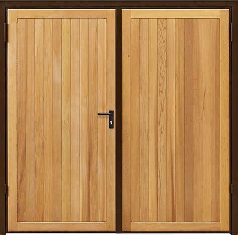 wooden garage side door side hinged garage doors by wessex garage doors