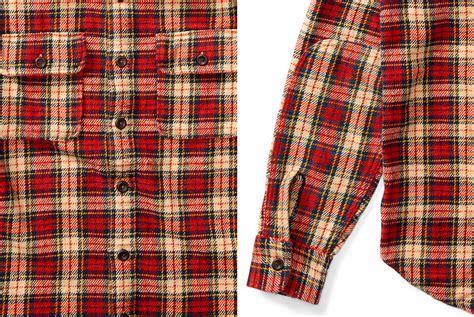 Plaid Cotton Shirt rrl plaid cotton twill shirt