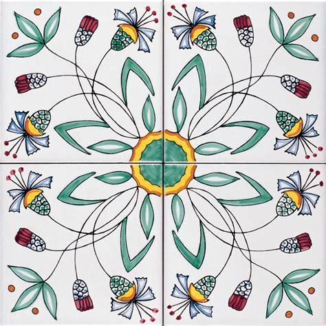 disegno fiore stilizzato ceramica artistica vietrese de maio dalla
