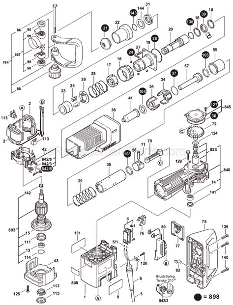 Armature Gsh 5x bosch 11316evs parts list and diagram 0611316739 ereplacementparts