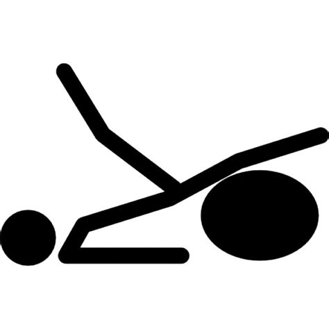 Stick Dumbell stick side view raised on exercise icons free