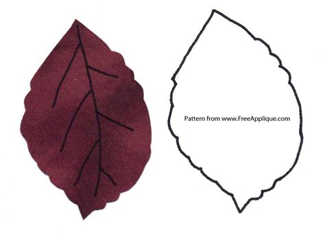 Patterns For Applique by Printable Leaf Patterns For Applique Quilting Crafts Or