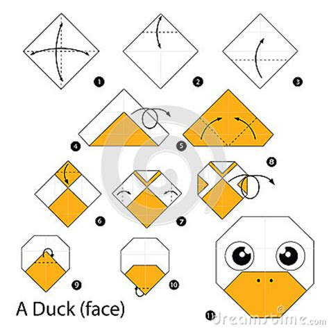 How To Make A Paper Duck Step By Step - step by step how to make origami a duck