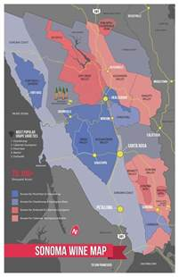 sonoma wine map poster am i am and maps posters