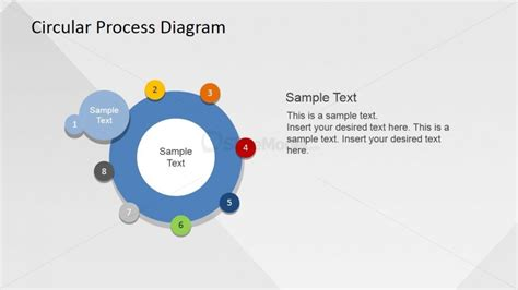 circular connected 4 steps powerpoint diagram slidemodel step circular powerpoint template slidemodel