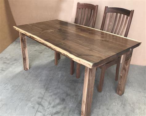 amish live edge table amish made custom live edge walnut dining tables wholesale