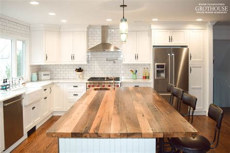 kitchen island countertop reclaimed wood countertops wood countertop butcherblock