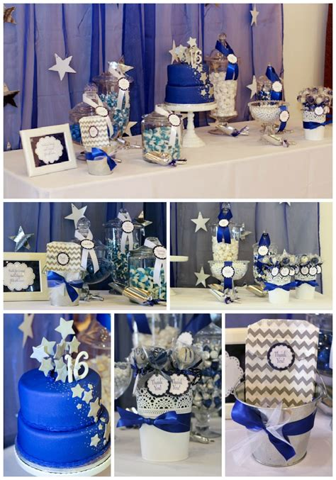 party themes with blue blue sweet 16 party decorations quotes