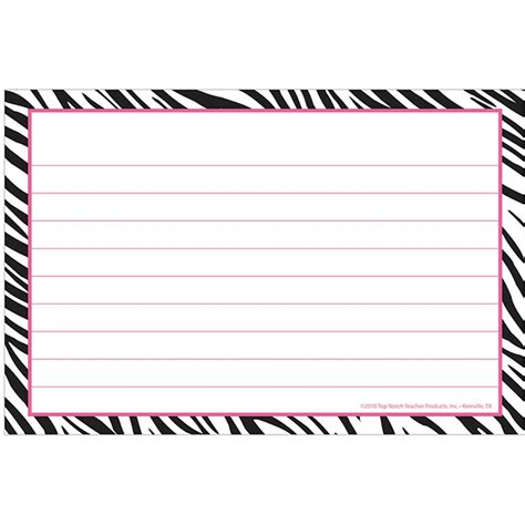 8 5 x 5 5 fancy card border polka dot templates border index cards 4x6 zebra lined top3668 top notch
