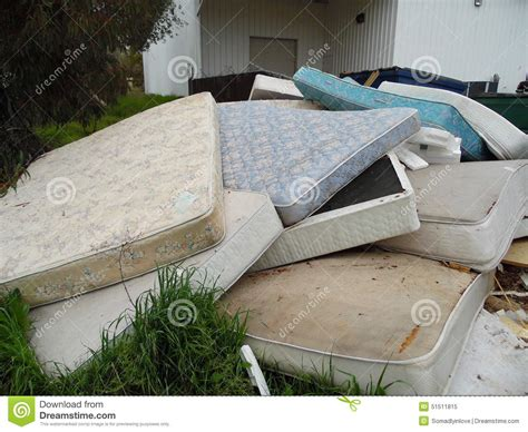 mattresses dumped stock photo image 51511815