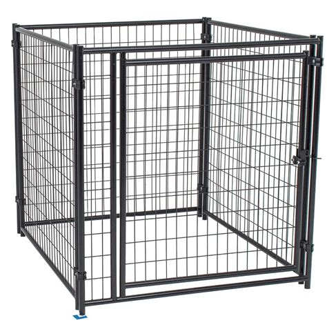 wire kennel fencemaster cottageview 5 ft x 5 ft x 4 ft boxed kennel hbk11 11799 the home depot