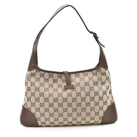 gucci classic gg monogram jackie  hobo bag ggy bags