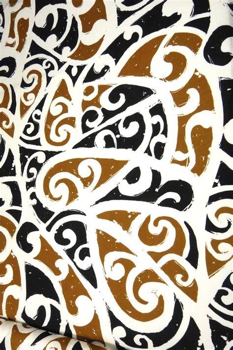 Black Tribal Brown hawaiian print tribal design brown black ivory by transpacific ebay