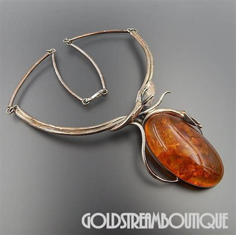 vintage calla lily l vintage sterling silver magnificent baltic amber calla