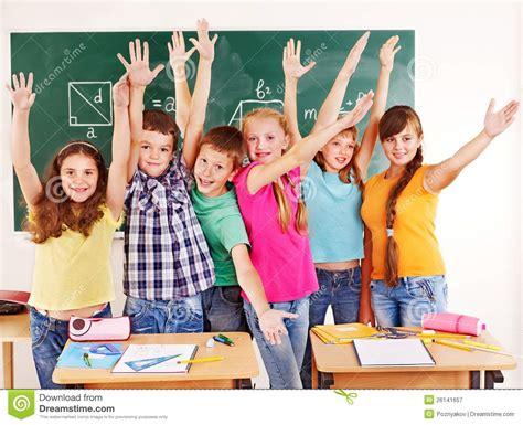 Royalty Free School Children Stock by Of School Child In Classroom Stock Image Image