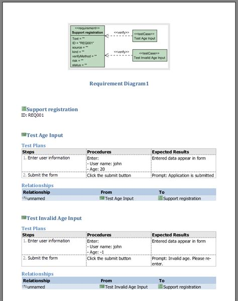 download free test data requirement template software