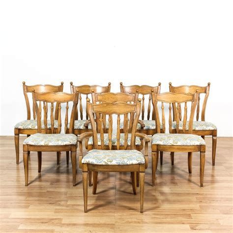 Dining Chairs Los Angeles Set Of 8 Quot Thomasville Quot Floral Dining Chairs Loveseat Vintage Furniture Los Angeles