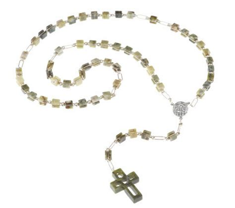 marble rosary connemara marble rosary with woven cross page 1 qvc