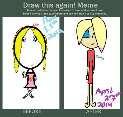 Draw This Again Meme Blank - draw this again meme sophie by queenofbacon on deviantart