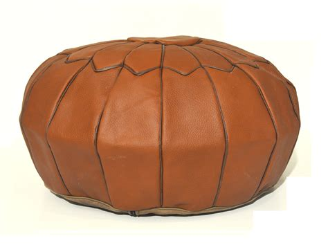 how to a pouf ottoman decor leather pouf leather ottoman brown