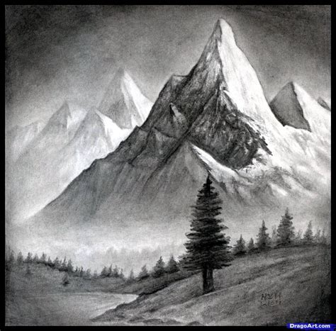 pin by joy lake on ink me very much pinterest how to draw a realistic landscape draw realistic