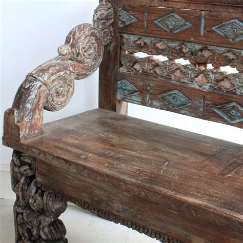 wood carved bench ornate carved wooden bench kasakosa home decor