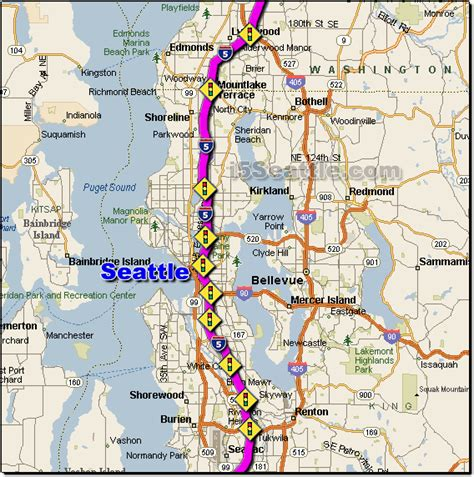 seattle map bridge i 5 seattle traffic maps and road conditions