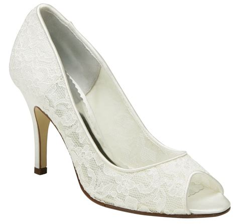 Brautschuhe Spitze Ivory by Image Gallery Ivory Lace Shoes
